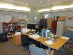 Fr. Ross in the (temporary) church office